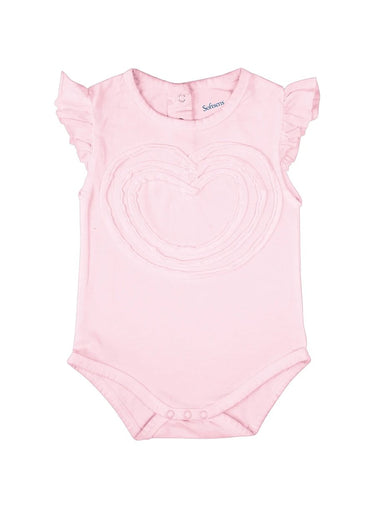 Heartthrob Flutter Sleeve Soft Jersey Bodysuit-Baby Clothing-Softsens