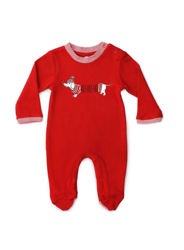 HO HO HO Long Sleeve Organic Cotton Footie-Baby Clothing-Softsens