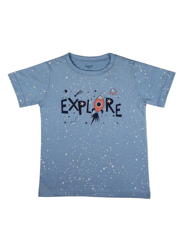Little Explorer Soft Jersey Tee-Kids Clothing-Softsens