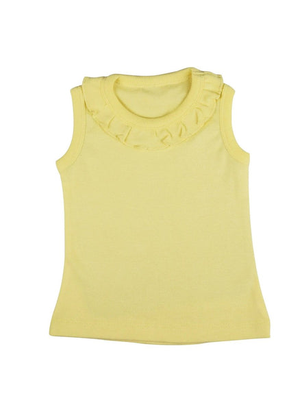 Little Miss Sunshine Sleeveless Soft Jersey Tank Top with Frill-Kids Clothing-Softsens