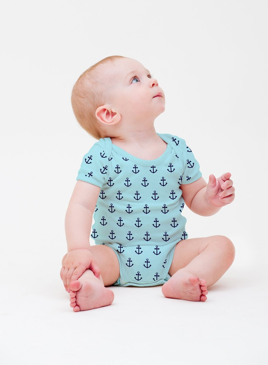 Little Sailor Short Sleeves Baby Bodysuit-Baby Clothing-Softsens