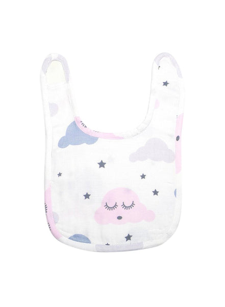 Night Sky Organic Muslin Bib-Muslin Essentials-Softsens