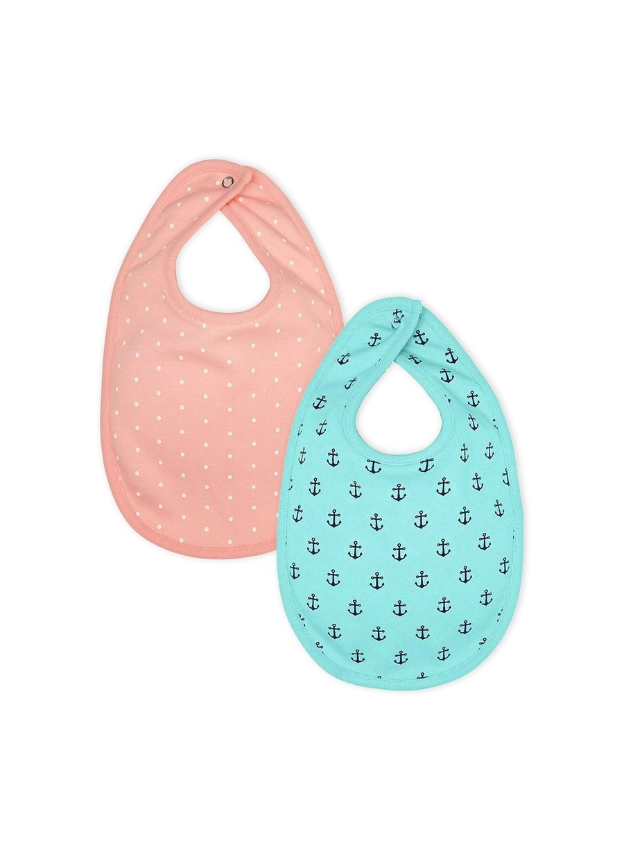 Perfect Pair Pack of 2 Organic Cotton Bibs-Muslin Essentials-Softsens