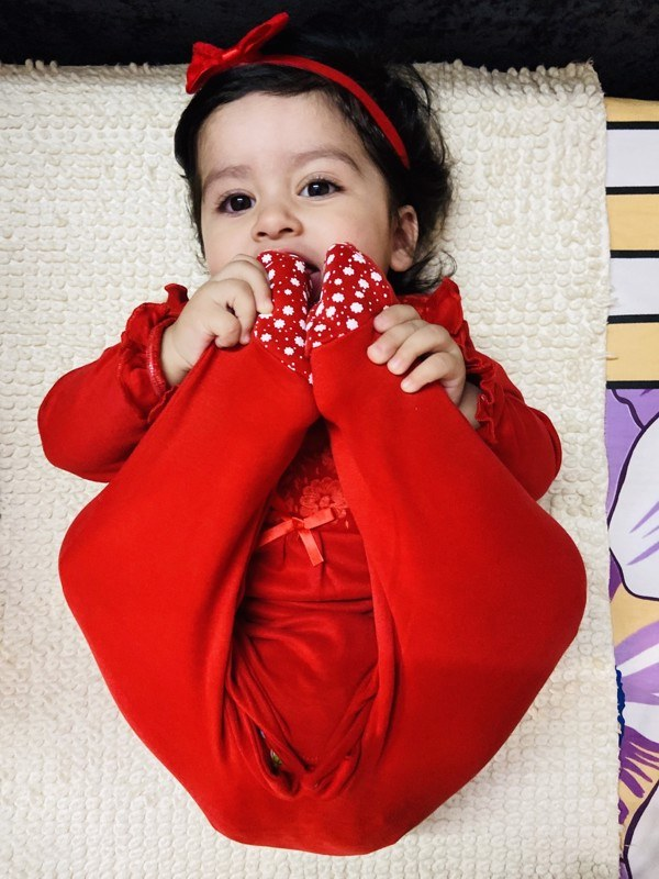 Red to Toe Pack of 2 Long Sleeve Organic Cotton Footies