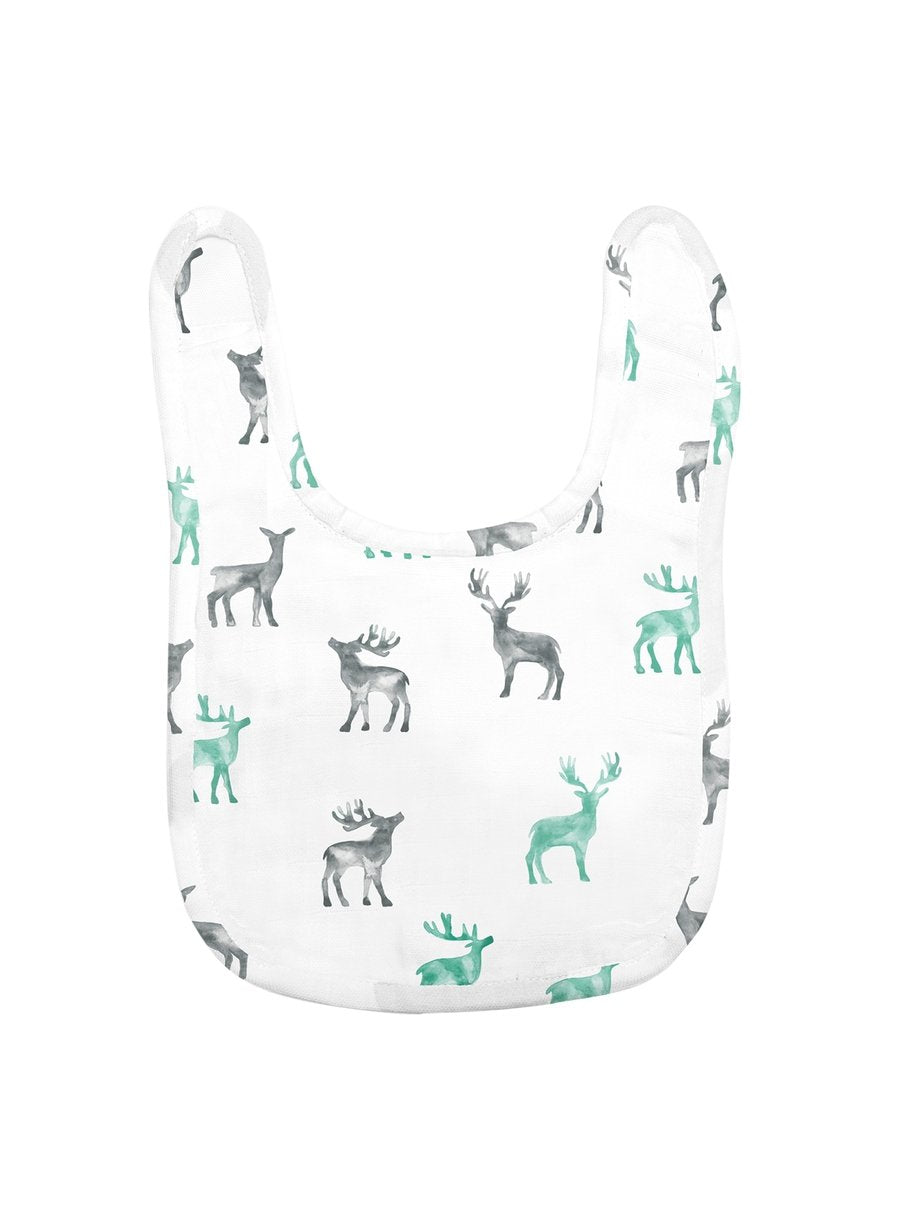Reindeer Magic Organic Muslin Bib-Muslin Essentials-Softsens