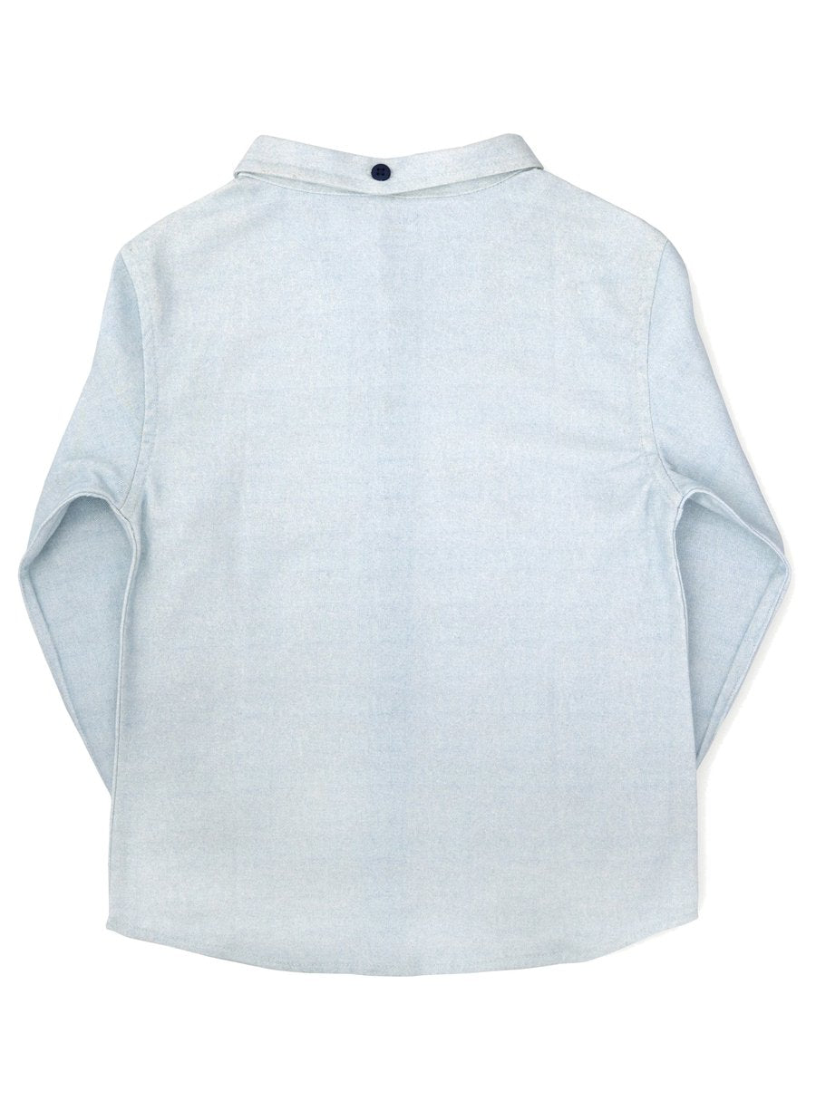 Show Stopper Brushed Twill Shirt with Elbow Patch Detail-Kids Clothing-Softsens
