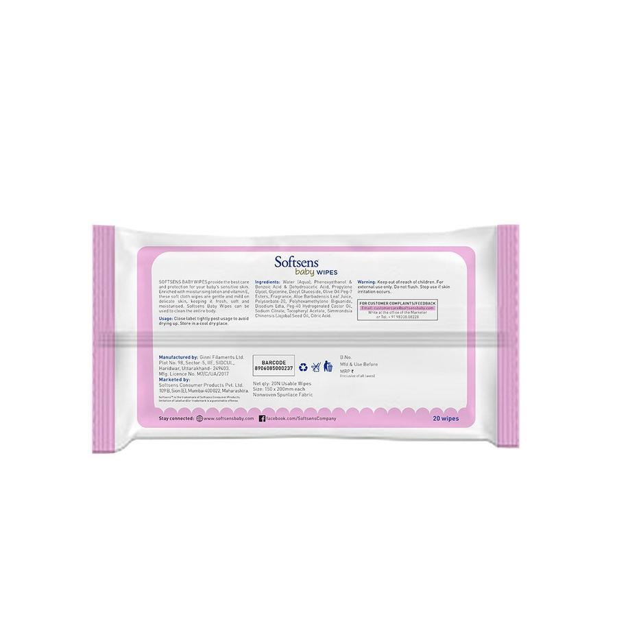 Softsens - Baby Skin Care Wipes (20's pack of 3)-LifeCell_Offer-Softsens