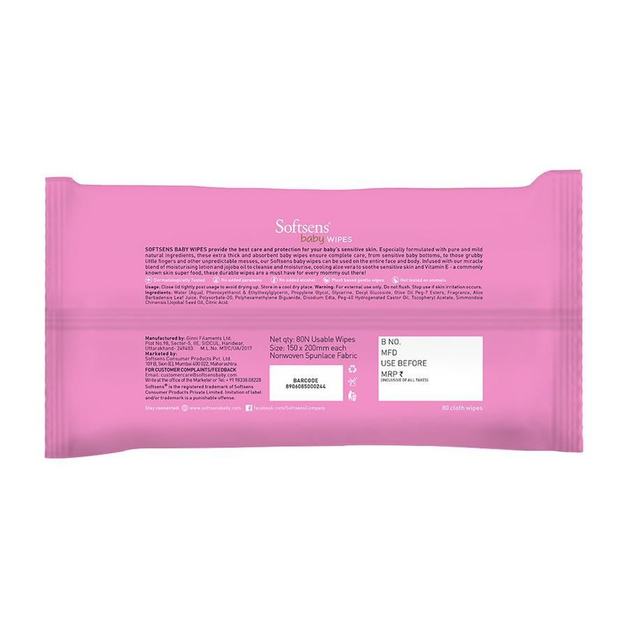 Softsens - Skin Care Wet Wipes 80's Pack Of 5-LifeCell_Offer-Softsens