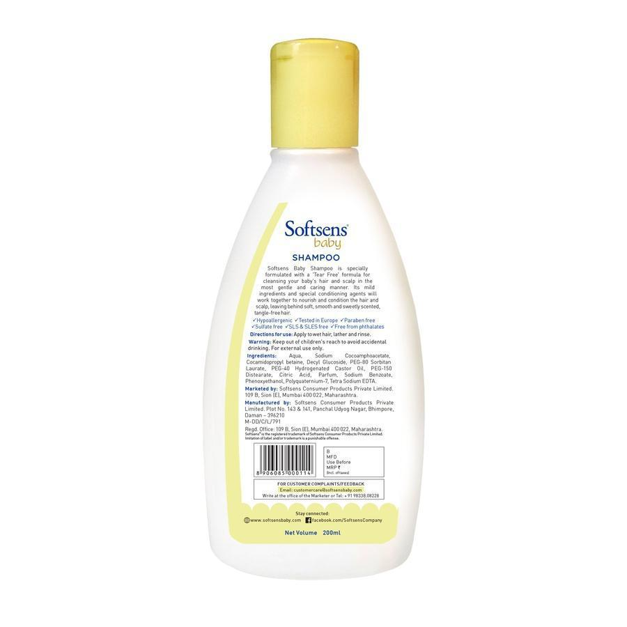 Tear Free Baby Shampoo (200ml)-Bundles-Softsens