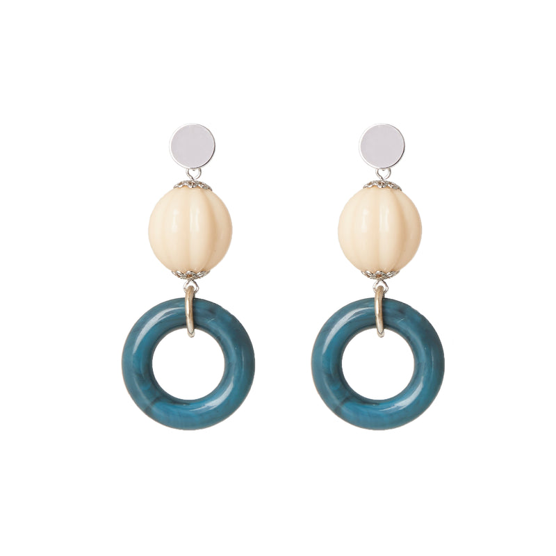 Statement Wave Circle Earrings