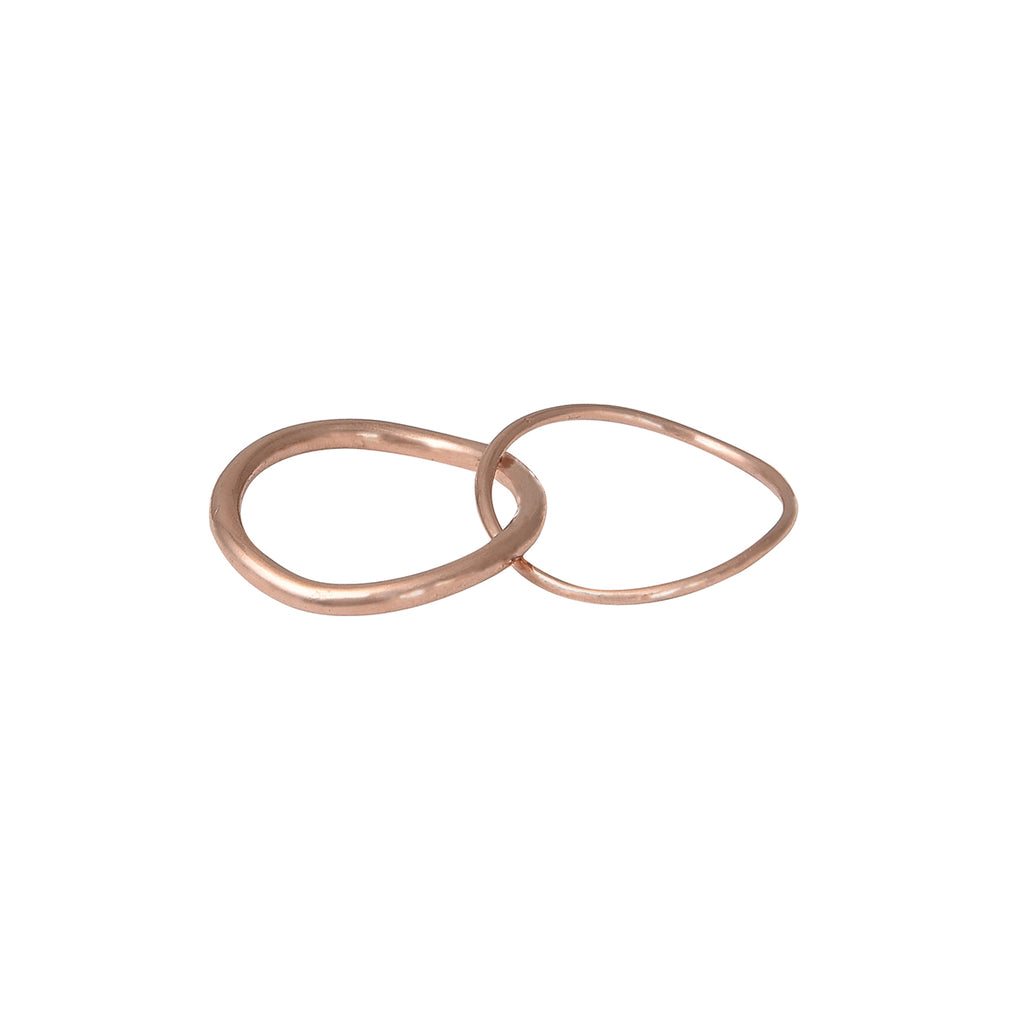 Double Ring Rose Gold Vermeil