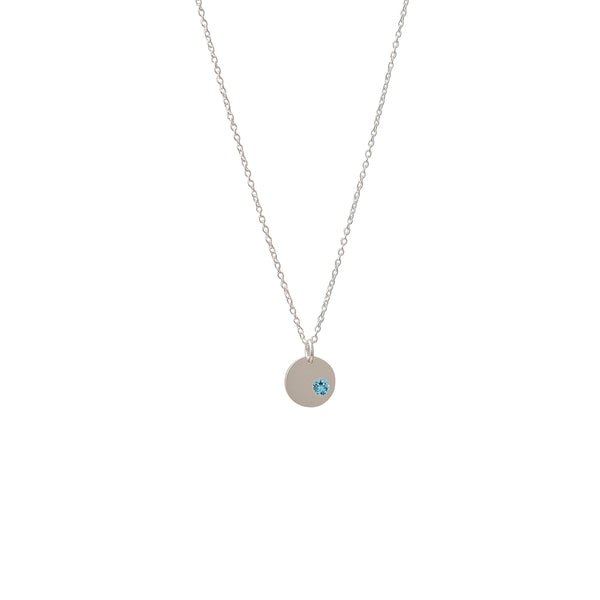 Sterling Silver Turquoise Birthstone Pendant