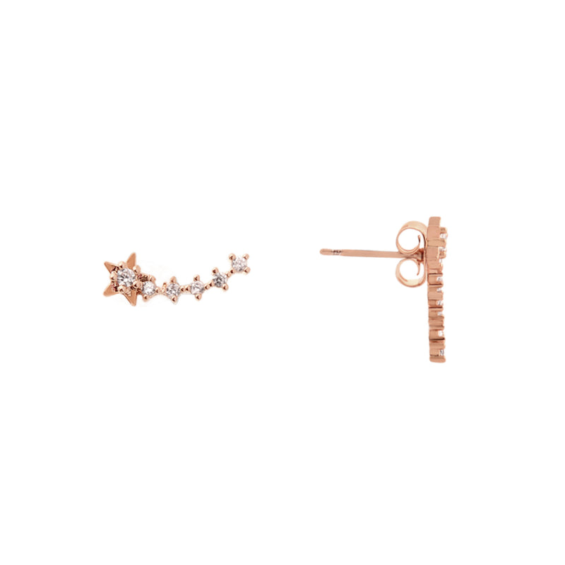 Shooting Star Stud Earrings