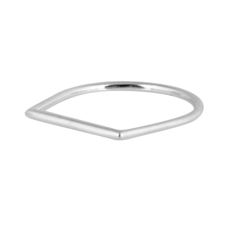 Sterling Silver Simple Modern Ring
