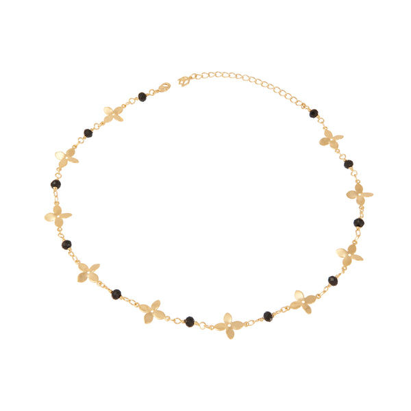 Geometric Flower Chain Choker
