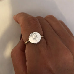 DOR X CHLOEHALL Birth Flower Ring Silver
