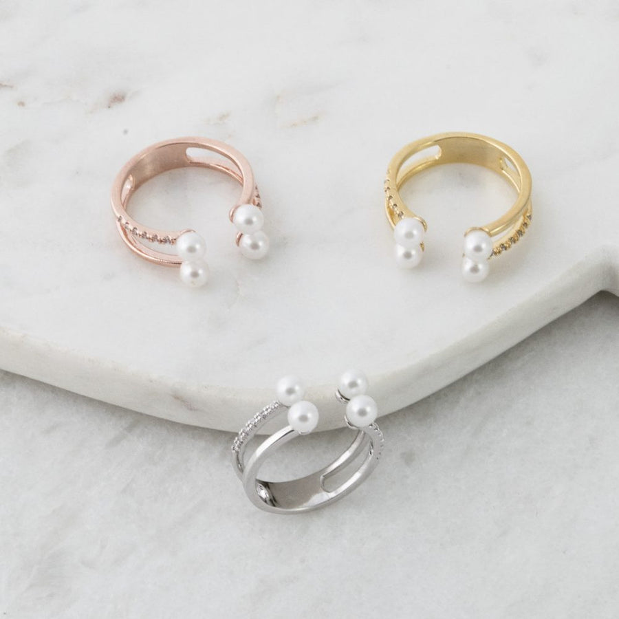 Pearl With Cubic Ring
