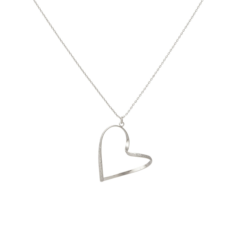 Personalised Wave Heart And Charm Necklace