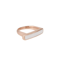 Sleek Enamel Ring