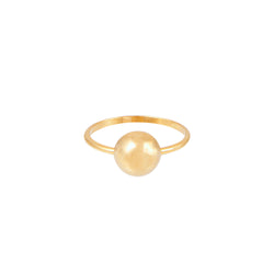 Half Ball Gold Ring