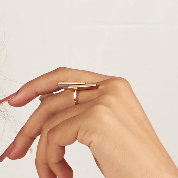 Long Bar Adjustable Ring