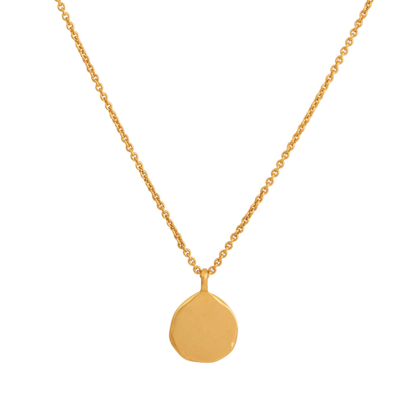 'Love' Organic Gold Pendant