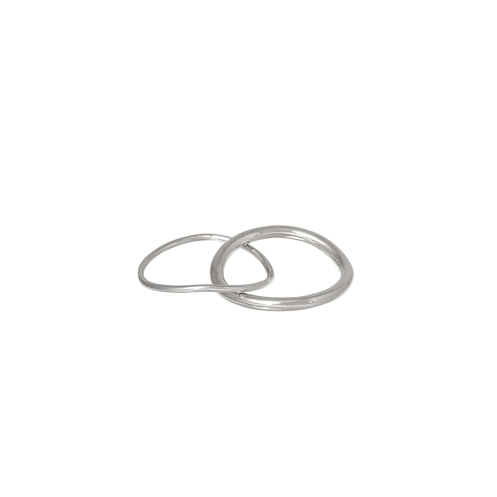 Double Ring Sterling Silver