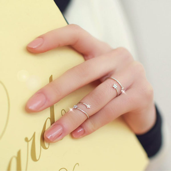 Tiny Star Ring Set