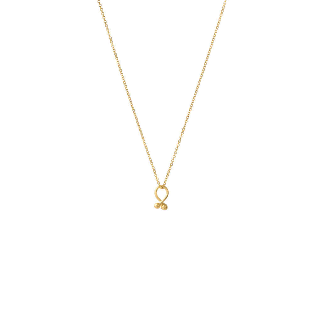 Tiny Knot Gold Vermeil Necklace