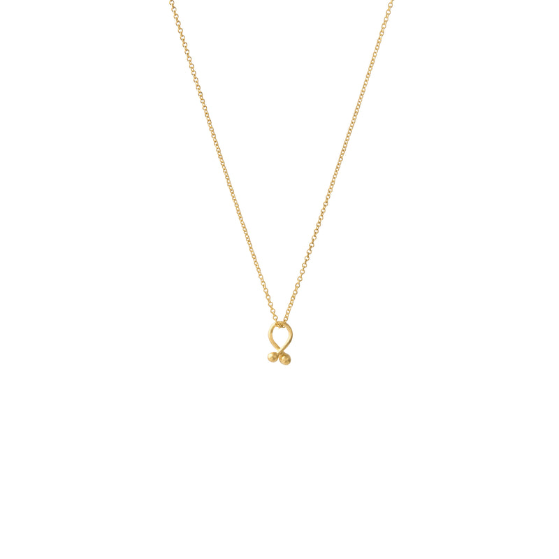 Tiny Knot Gold Necklace