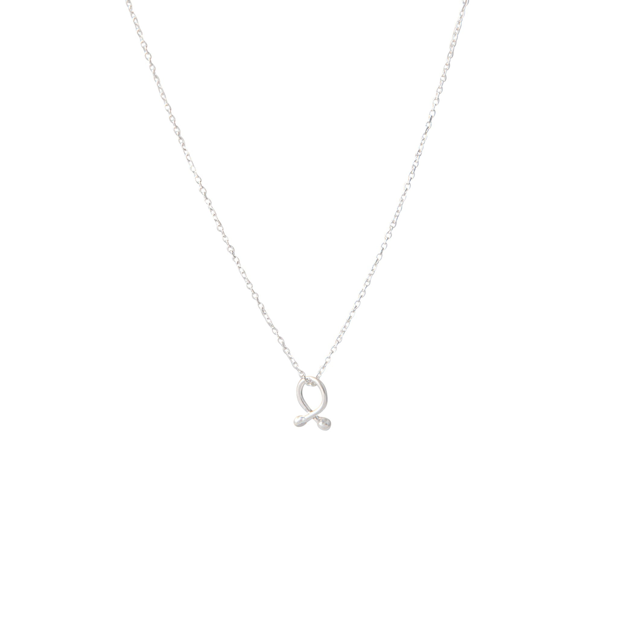 Tiny Knot Sterling Silver Necklace