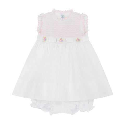 White/Pink Sleeveless Secret Garden Dress