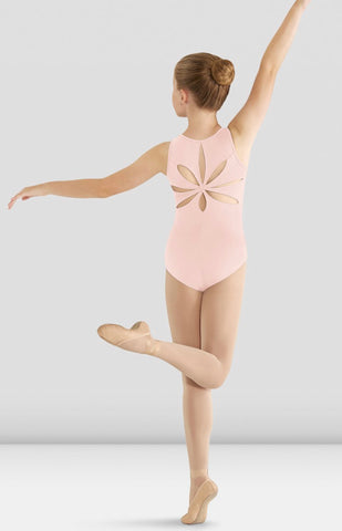 Pink Flower Back Tank Leotard