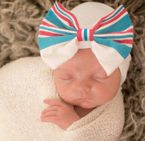 Newborn Hospital Hats (pics in order-multiple colors)