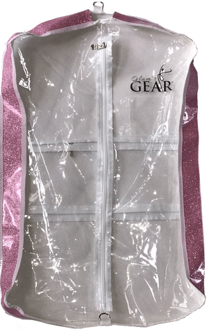 Glam'r Gear Clear with Colored Sides Garment Bags--Long