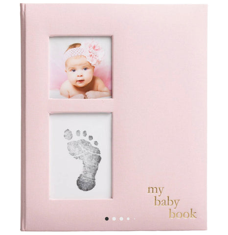 Linen Baby Memory Book and Ink Kit (2 colors)