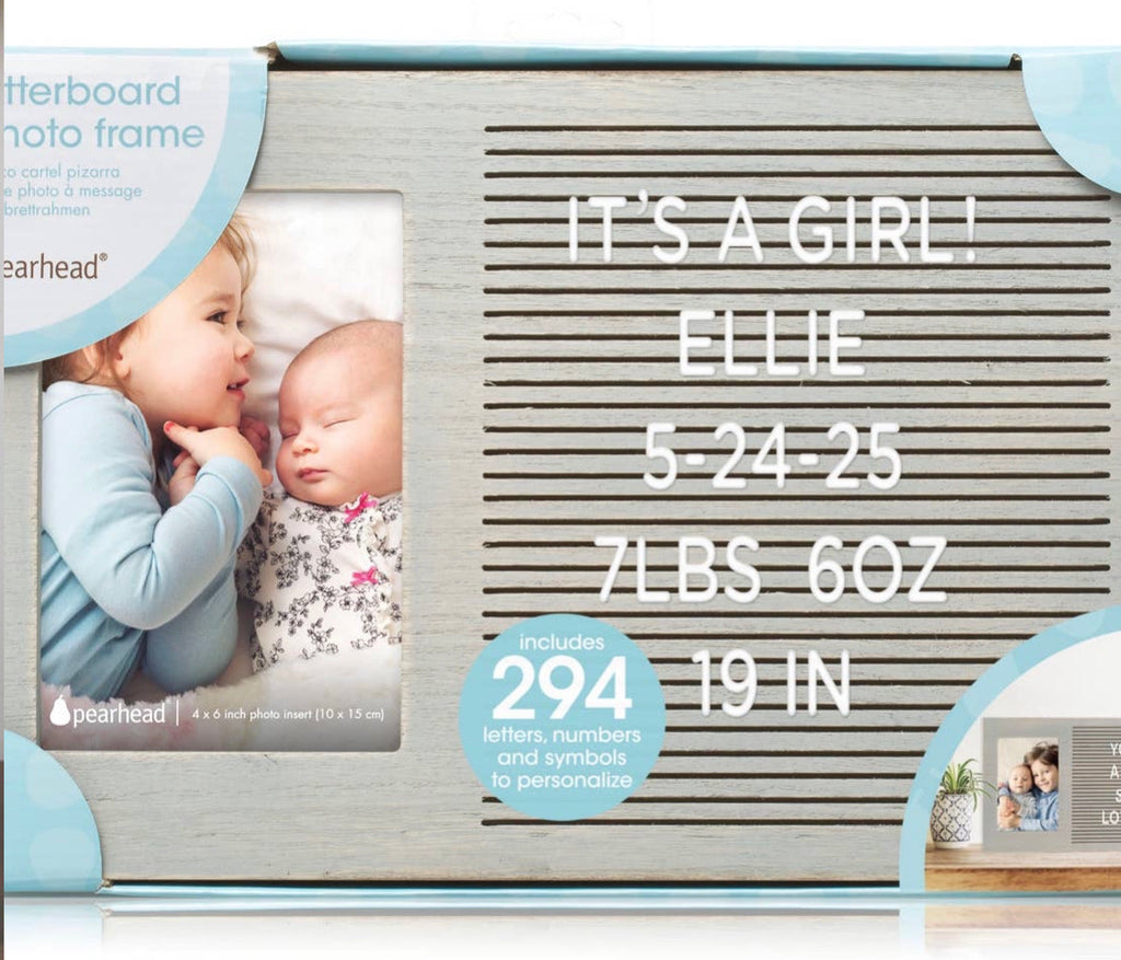 Grey Letter Photo Frame