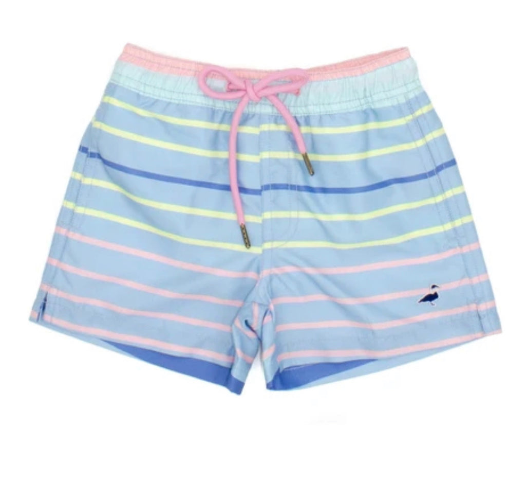 Swim Trunk Santa Monica Stripe
