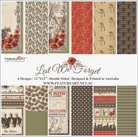 "Lest We Forget 12"" paper pack"