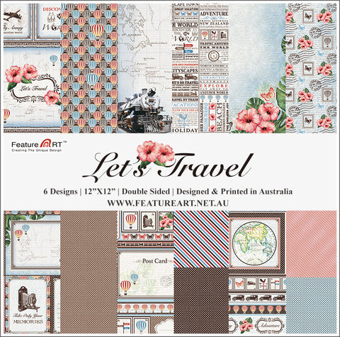 "Let's Travel 12"" Paper Pack"