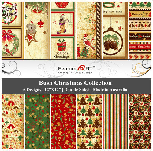 "Bush Christmas 12"" Paper Pack"