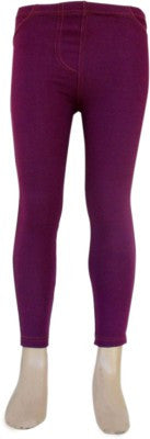 Trendsera Girls' Purple Jeggings