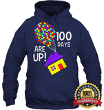 100 Days Are Up | Of School T-Shirt Unisex Heavyweight Pullover Hoodie / Navy S Apparel