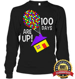 100 Days Are Up | Of School T-Shirt Unisex Long Sleeve Classic Tee / Black S Apparel