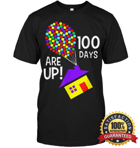 100 Days Are Up | Of School T-Shirt Unisex Short Sleeve Classic Tee / Black S Apparel