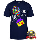100 Days Are Up | Of School T-Shirt Unisex Short Sleeve Classic Tee / Navy S Apparel