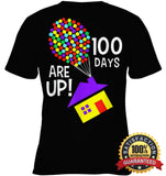 100 Days Are Up | Of School T-Shirt Youth Classic Tee / Black Xs Apparel