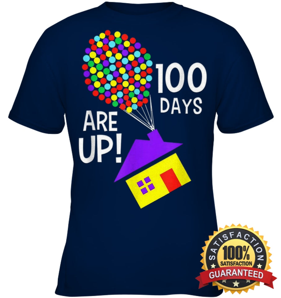 100 Days Are Up | Of School T-Shirt Youth Classic Tee / Navy Xs Apparel