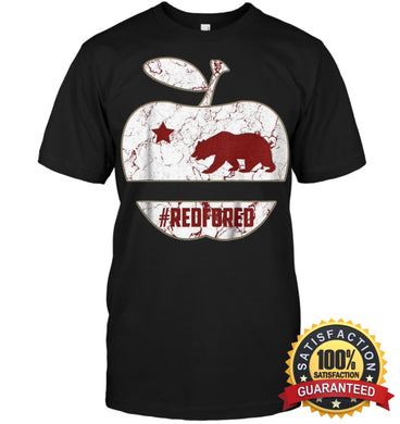 California Teacher Protest Red For Ed T-Shirt Unisex Short Sleeve Classic Tee / Black S Apparel