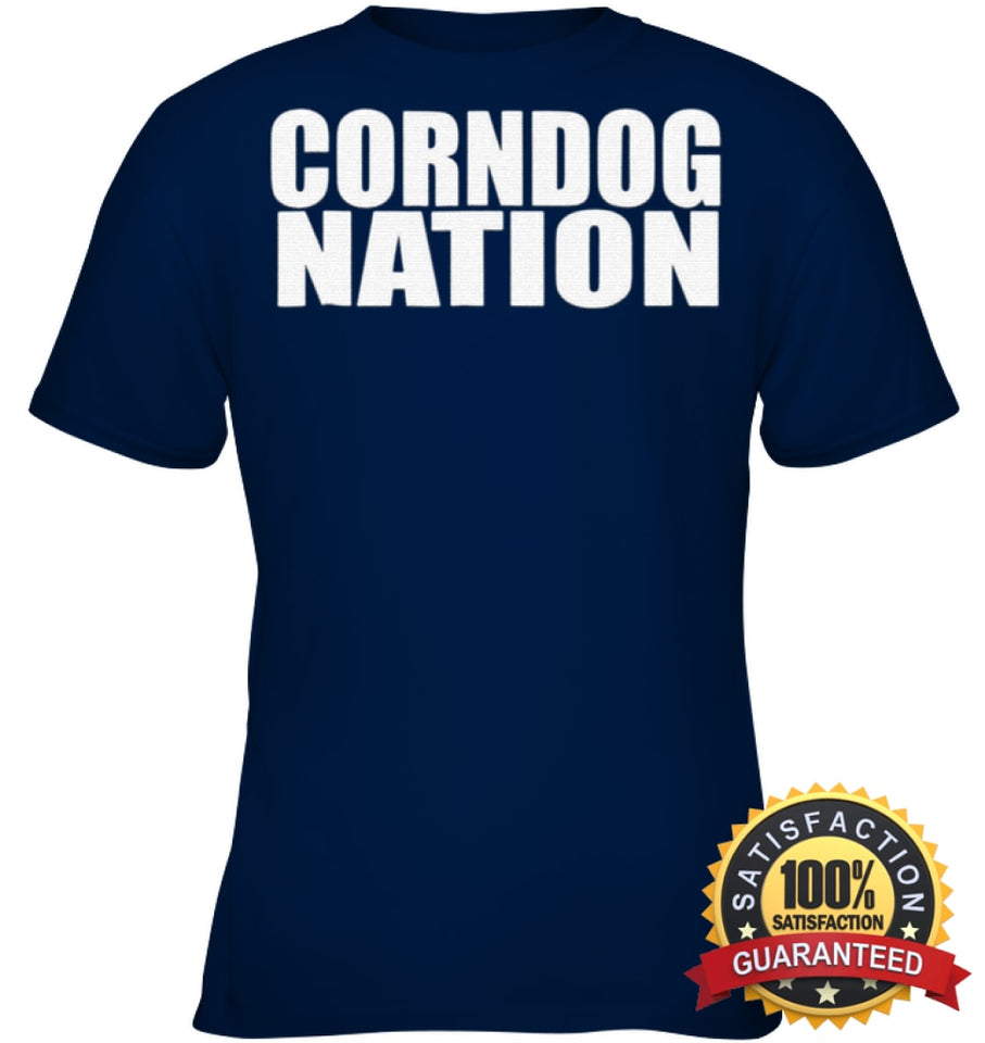 Corndog Nation Food Lovers Funny T-Shirt Youth Classic Tee / Navy Xs Apparel